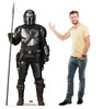 Life-size cardboard standee of The Mandalorian with Spear from the Mandalorian season 2 with model.