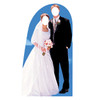 Life-size Bride and Groom Stand-In Cardboard Standup   Cardboard Cutout