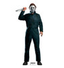 Life-size cardboard standee of Michael Myers with knife from Halloween II movie.