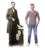 Life-size cardboard standee of Abraham Lincoln with model.