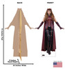 Life-size cardboard standee of the Scarlet Witch from the new Disney + series WandaVision with back and front dimensions.