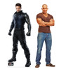 Life-size cardboard standee of Winter Soldier with model.