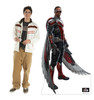 Life-size cardboard standee of Falcon with model.