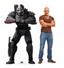 Life-size cardboard standee of Wrecker from The Bad Batch on Disney+ with model.