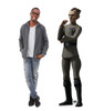 Life-size cardboard standee of Grand Moff Tarkin from The Bad Batch on Disney+ with model.