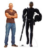Life-size cardboard standee of Crosshair (Imperial) from The Bad Batch on Disney+ with model.