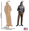Life-size cardboard standee of Loki from Marvel/Disney+ series Loki with back and front dimensions.