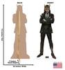 Life-size cardboard standee of Loki Horns from Marvel/Disney+ series Loki with model.