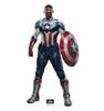 Life-size cardboard standee of Falcon Captain America.