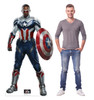 Life-size cardboard standee of Falcon Captain America with model.