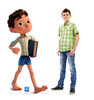 Life-size cardboard standee of Luca with model.