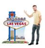 Life-size Vegas Sign Cardboard Standup | Cardboard Cutout