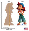 Life-size cardboard standee of Giulia with front and back dimensions.