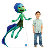 Life-size cardboard standee of Luca Sea Monster with model.