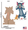 Life-size cardboard standee of Tom & Jerry from Tom & Jerry movie with back and front dimensions.
