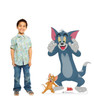 Life-size cardboard standee of Tom & Jerry from Tom & Jerry movie with model.