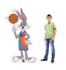 Life-size cardboard standee of Bugs Bunny from Space Jam A New Legacy with model.