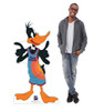 Life-size cardboard standee of Daffy Duck from Space Jam A New Legacy with model.