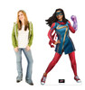Life-size cardboard standee of Ms. Marvel from Marvel Studios Ms. Marvel on Disney + with Model.