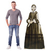 Life-size cardboard standee of Florence Nightingale with model.