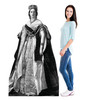 Life-size cardboard standee of Queen Victoria with model.