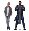 Life-size cardboard standee of Phastos from the Marvel movie The Eternals with model.