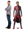 Life-size cardboard standee of Makkari from the Marvel movie The Eternals with model.