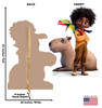 Life-size cardboard standee of Antonio, Capybara and Toucan from the Disney's movie Encanto with back and front dimensions.