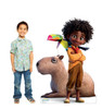 Life-size cardboard standee of Antonio, Capybara and Toucan from the Disney's movie Encanto with model.