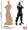 Bane 02 Cardboard Cutout Front and Back View