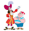 Life-size Captain Hook and Mr Smee Cardboard Standup | Cardboard Cutout