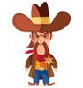 Life-size Cartoon Sheriff Cardboard Standup | Cardboard Cutout