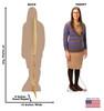 Amy - Big Bang Theory - Cardboard Cutout Front and Back View