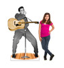 Life-size Elvis Presley with Microphone Cardboard Standup | Cardboard Cutout