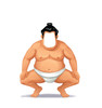 Life-size Sumo Wrestler Stand-In Cardboard Standup | Cardboard Cutout