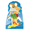 Life-size Surfer Couple Stand-in Cardboard Standup   Cardboard Cutout