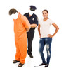 Life-size Inmate and Police Officer Stand-in Cardboard Standup   Cardboard Cutout 2
