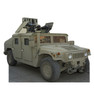Army Hummer - Cardboard Cutout Front View