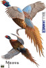 Life-size Pheasants Wall Decal