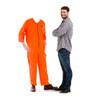 Life-size Inmate Orange Jump Suit Stand-in Cardboard Standup | Cardboard Cutout 2