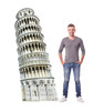 Life-size Italy Leaning Tower of Pisa Cardboard Standup