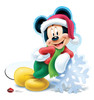 Life-size Holiday Mickey Mouse - Limited Edition! Cardboard Standup