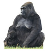 Life-size Mother and Child Gorillas Cardboard Standup