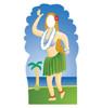 Life-size Hula Girl Stand-In Cardboard Standup