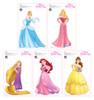 Mini Princesses 5 Pack - Cardboard Cutout