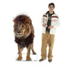 Life-size cardboard standee of a Lion with model.