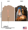 Christmas Nativity Cardboard Cutout - Illustrated by Dona Gelsinger 1864