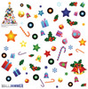 Life-size Christmas Tree Collage WallJammer Wall Decal