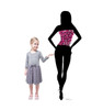 Life-size Silhouette Dancer Pink Sparkles Cardboard Standup 2