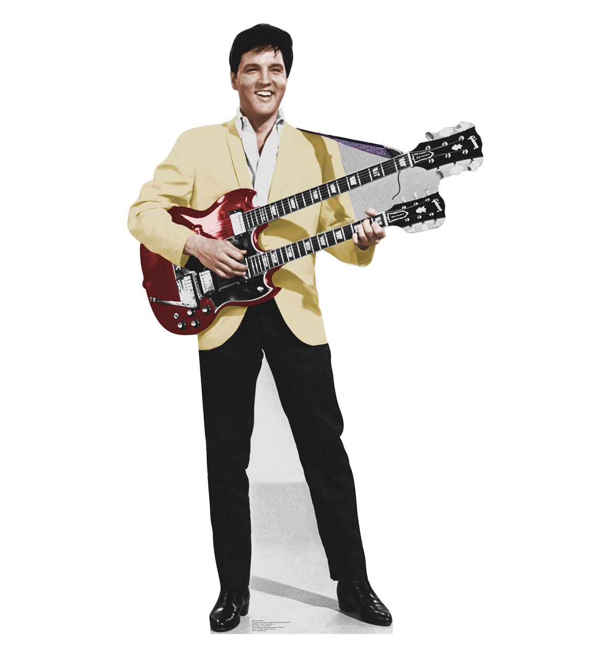 Life-size Elvis Yellow Jacket Cardboard Standup